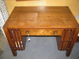 Antique Mission Oak Desk
