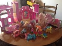 My Little Pony selection with castle and other horses