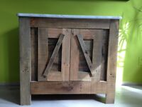***HAND CRAFTED BATHROOM VANITY*** Barn wood, Carrera Marble