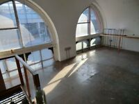 First Floor Office/Studios in Victorian Warehouse close by St.Pancras Station at £640 pcm..