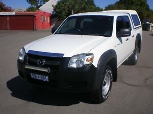 2008 Mazda BT-50 B3000 DX White 5 Speed Manual Dual Cab Pick-up Victoria Park Victoria Park Area Preview