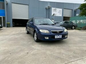 2002 Mazda 323 Astina Shades Blue 5 Speed Manual Hatchback Newport Hobsons Bay Area Preview