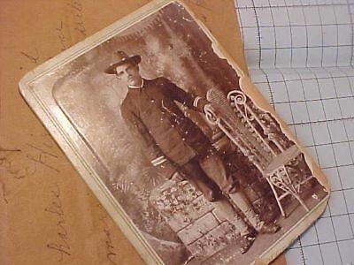 ORIGINAL SPANISH AMERICAN WAR CABINET CARD PHOTO - ID