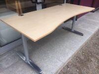 Maple 1800 double wave desk