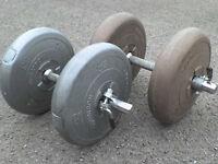 66 lb 30 kg Big Grey Dumbbell & Barbell Weights - Heathrow