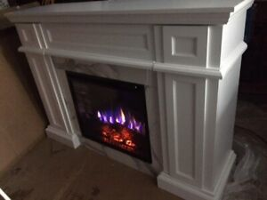 Brand New Full Size Fireplace With Storage