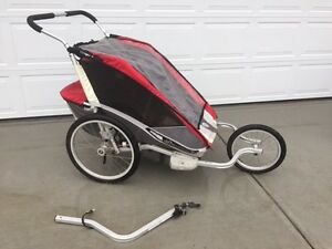 Chariot Cougar 2 Stroller with Bike and Jogging attachment