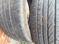 Tyres 205/50/R17. Part worn.