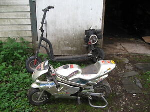 Pocket Bike and Motorized Scooter