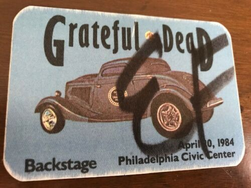 Grateful Dead - April 20, 1984 - Civic Center Philadelphia - backstage pass (EF)