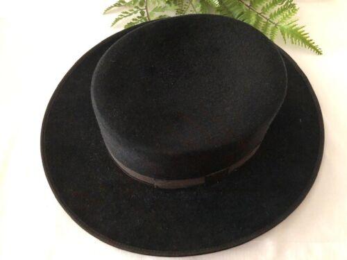 Andaluz Clasico Sombrero Espanol Black Hat Vintage