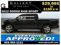 2012 DODGE RAM SPORT CREW *EVERYONE APPROVED* $0 DOWN $199/BW! W