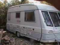 Touring Caravan 2 Berth Swift Corniche 1993 End Washroom and FULL Awning