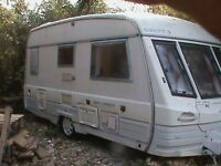 Touring Caravan 2 Berth Swift Corniche 1993 End Washroom and FULL Awning