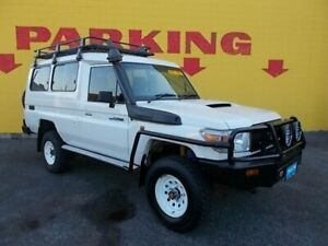 2015 Toyota Landcruiser VDJ78R Workmate White 5 Speed Manual TroopCarrier Winnellie Darwin City Preview