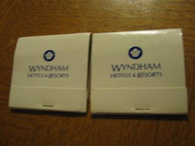 2 Pcs  Wyndham Hotels   Resorts Matchbook