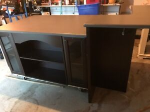 Island Cabinetry with Two Tier Top