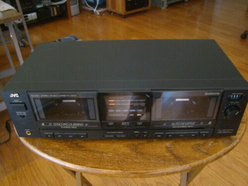 JVC TD-W301 Dual Deck Cassette Recorder Tested Great Working Condition