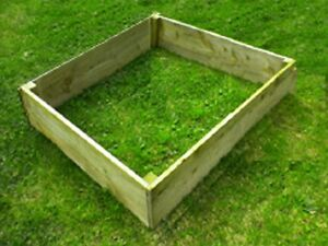 Timber Raised Bed Planters 4ft x 4ft For The Garden & Allotment