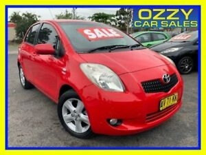 2008 Toyota Yaris NCP90R YR Red 4 Speed Automatic Hatchback Minto Campbelltown Area Preview