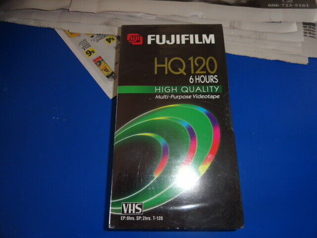 NEW Fujifilm Hq120 6 Hour Vhs Blank Cassette Tape - $10.99