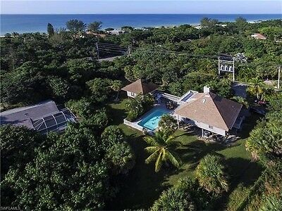 Sanibel Island Florida 4 Bedroom 3 Bath Home For Rent  With Pool And Guest House