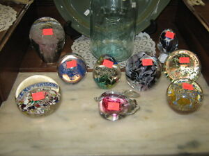 GLASS PAPER WEIGHTS Peterborough Peterborough Area image 1