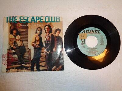 The Escape Club, Shake For the Sheik, Promo Copy 45 RPM/PS 1988 (The Escape Club Shake For The Sheik)