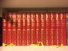 Agatha Christie Books Red leather look collection 13 books