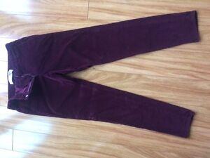 Joe Fresh deep plum velvet pants Kingston Kingston Area image 1