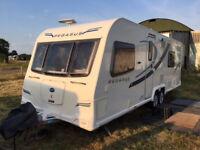 Bailey Pegasus 2 Bologna 2013 Alutech 4 berth touring caravan,twin axle with fixed double bed..
