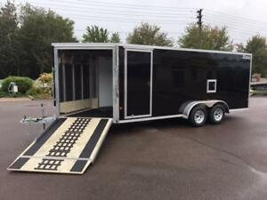 NEW 2019 XPRESS 7' x 23' DELUXE IN-LINE SNOWMOBILE TRAILER