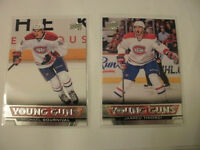 Michael Bournival & Jarred Tinordi Young Gun hockey rookie cards