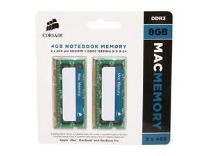 CORSAIR 8GB (2 x 4GB) DDR3 1333 (PC3 10600)