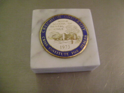 Creighton University Dental Science Class Of '73, 1973 Paperweight vintage