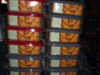 12 LARGE PLASTIC FOOD CONTAINERS * BRAND NEW * TUPPERWARE * CLACTON CO15 6AJ