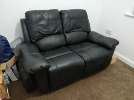 2 seater leather recliner sofa - must be collected today