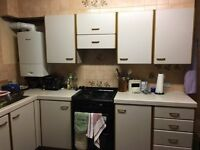 Kitchen for Sale - Freestanding Gas/oven, Cabinets, Microwave