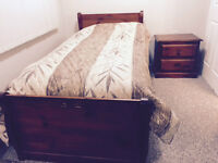 Bed and Night Stand For Sale