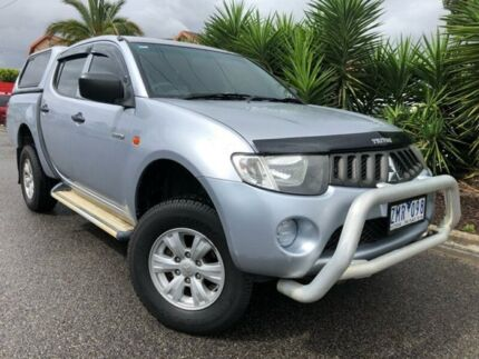 2007 Mitsubishi Triton ML MY08 GLX Silver 5 Speed Manual Double Cab Utility Hoppers Crossing Wyndham Area Preview