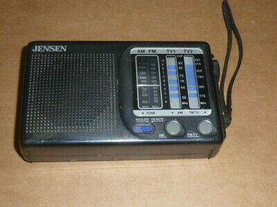 Pocket Jensen Portable MR-400 12-Channel TV Band Receiver With AM/FM Radio