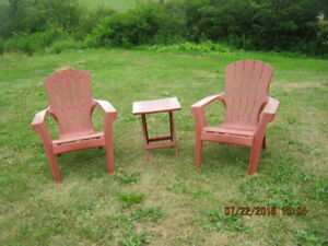 PATIO SET , 2 CHAIR & 1 TABLE