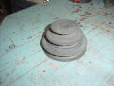 Used 3 Step Aluminum Pulley 3 716 2 1116 2 V Belt 12 Hole