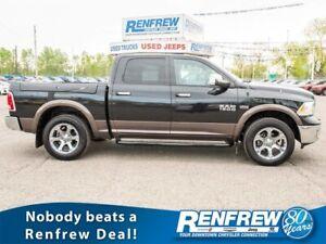 2017 Ram 1500 4WD Laramie, Sunroof, Nav, Cooled/Heated Leather,