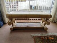 Bamboo Coffee Table only a few months old so in very good condition