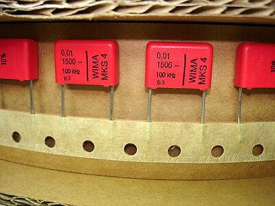 10pcs New Wima .01uf 1500v Volts 1.5kv 10 Mks4 Audio Amp Amplifier Capacitors