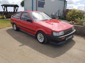 x2 toyota corolla ae86 gt coupe twimcams for sale