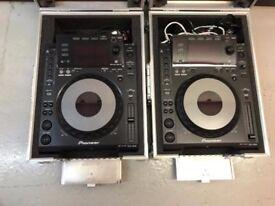2x pioneer cjd 900s djm 800 mixer