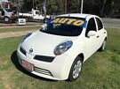 2009 Nissan Micra K12 White 4 Speed Automatic Hatchback Clontarf Redcliffe Area image 2