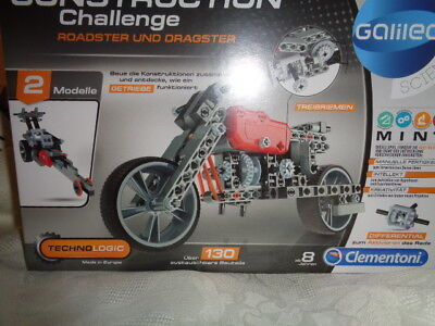 Galileo Construction Challenge Roadster und Dragster Clementoni ab 8 Jahre  OVP